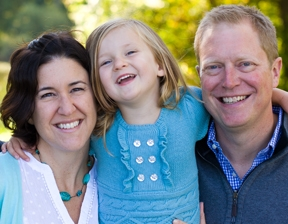 Ava, transplant recipient and her family