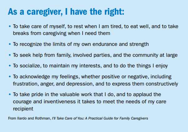 From Caregiver's Companion booklet introduction