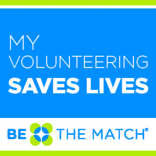 My volunteering helps save lives social badge